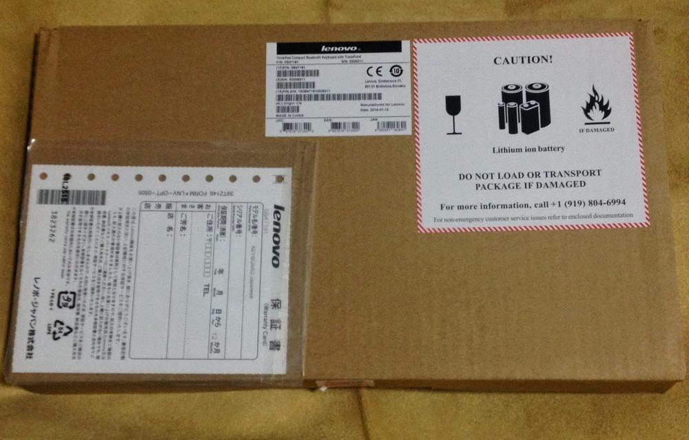 ThinkPad Bluetooth ワイヤレス・トラックポイント・キーボード – 日本語 0B47181